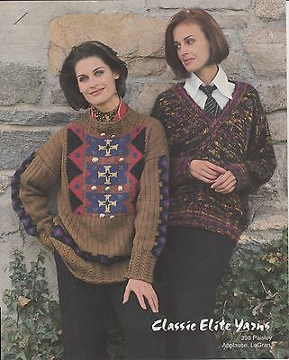 Ashaway Afternoon Classic Elite knitting pattern adult pullover copyright 1992