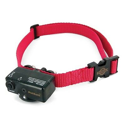 PetSafe Deluxe Static Bark Control Collar Red One Size No More Barking