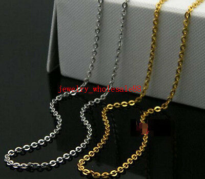 wholesale Jewelry Finding Flattened Link Chain Stainless steel material thin 2mm