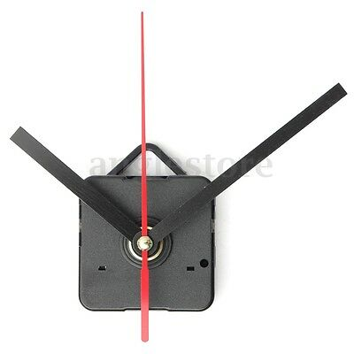 Wall Quartz Clock Black+Red Hands Spindle Movement Mechanism DIY Repair Tool Kit