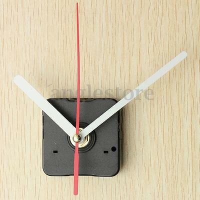 White & Red Hands DIY Wall Quartz Clock Movement Mechanism Repair Parts Kit Gift