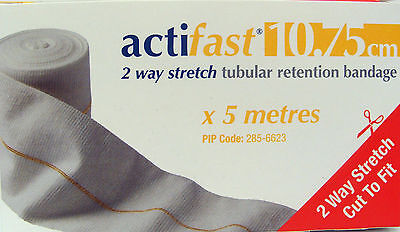 Actifast 2 way stretch tubular bandage 10.75cm Yellow  (CHOOSE LENGTH)