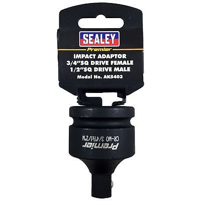 """Sealey Impact Adaptor Socket Reducer 3/4"""" Drive Female to 1/2"""" Drive Male"""