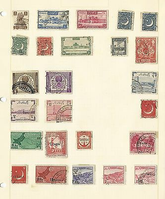 Pakistan Collection on Six Album Pages, All Different