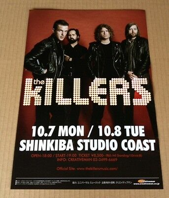 2013 The Killers JAPAN Tour Concert Flyer / mini poster / japanese / photo