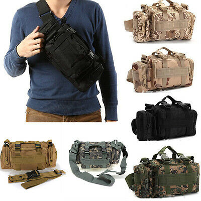 Outdoor Military Tactical Waist Pack Shoulder Bag Camping Hiking Pouch Bag Sport