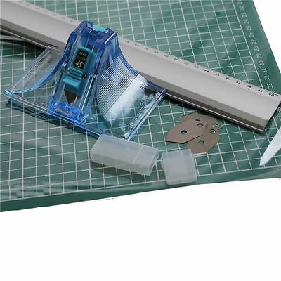 DAFA MOUNT BOARD CUTTER 45° 90° & 60cm METAL RULER & A2 CUTTING MAT COMPLETE KIT