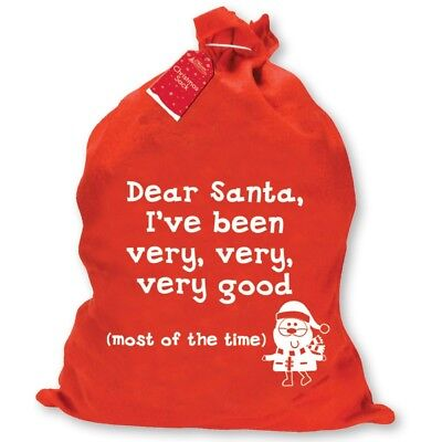 Giant Christmas Santa Sack Stocking Felt Fabric Presents Ive Been Very Good SBGO