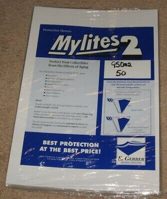 Pack of 50 Mylites 2 Mil Mylar Sheet Music / Large Magazine Bags sleeves