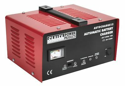 Sealey Electronic Battery Trickle Charger/Charging 12Amp 6/12V 230V AUTOCHARGE12