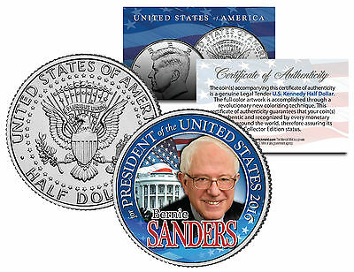 BERNIE SANDERS FOR PRESIDENT 2016 - JFK Half Dollar US Coin Political CAMPAIGN