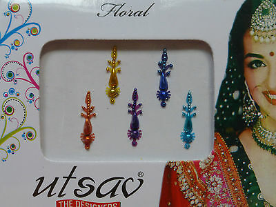 Faux Crystal Indian Bindi * Weddings Festivals Parties * Colours Vary (MT7)