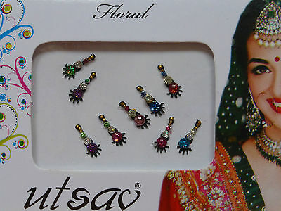 Faux Crystal Indian Bindi * Weddings Festivals Parties * Colours Vary (MT20)