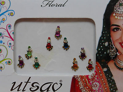 Faux Crystal Indian Bindi * Weddings Festivals Parties * Colours Vary (MT24)