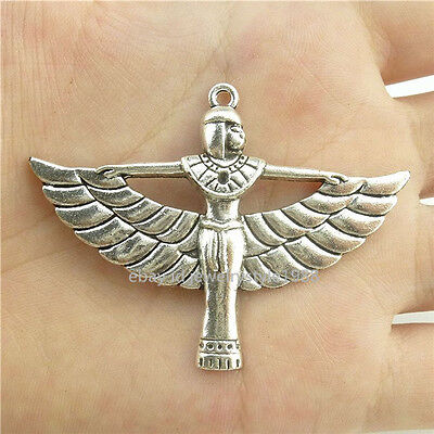 15326*5PCS Silver Vintage Egyptian Pharaonic Winged ISIS Pendant Alloy Antique