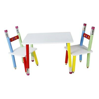 Kids Pencil table and 2 chairs