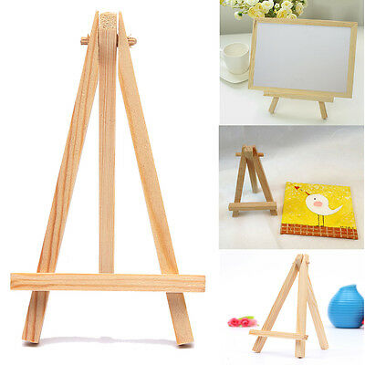 10Pcs Mini Wooden Cafe Table Number Easel Wedding Place Name Card Holder Stand