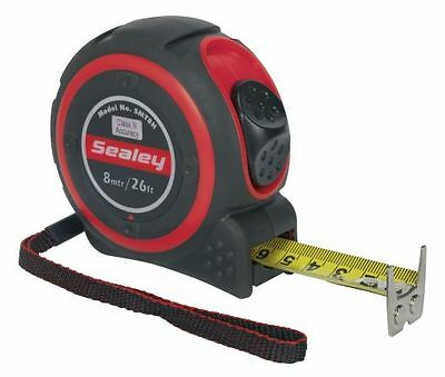 TO CLEAR - Sealey Heavy-Duty Measuring Tape 8mtr(26ft) SMT8H