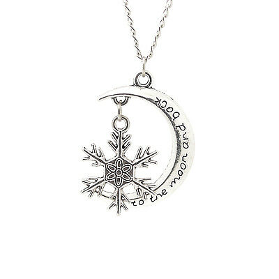 2017 'TO THE MOON AND BACK Moon ' With personality Snow Pendant Alloy Necklace