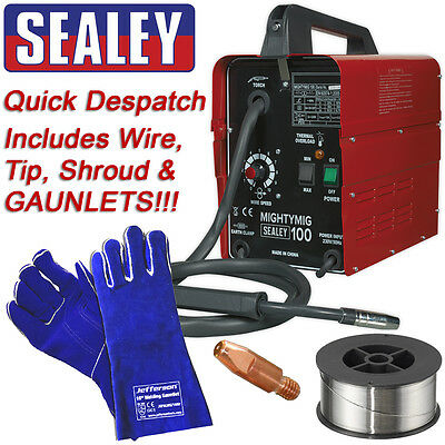 Sealey MIGHTYMIG100 Professional No Gas Mig Welder 100 amp 230v Gasless inc wire