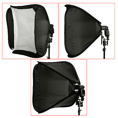 Neewer 60x60cm Softbox Pieghevole con Staffa-L per Off-Camera Flash