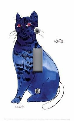 Light Switch Plate & Outlet Covers ANDY WARHOL BLUE CAT SAM