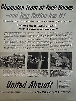 1928 United Airlines Military Commercial Air Line Proves Again in Korea Print Ad