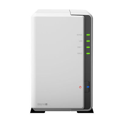 SYNOLOGY DS216j 2 Bay Network Attached Storage NAS USB3.0 Ethernet