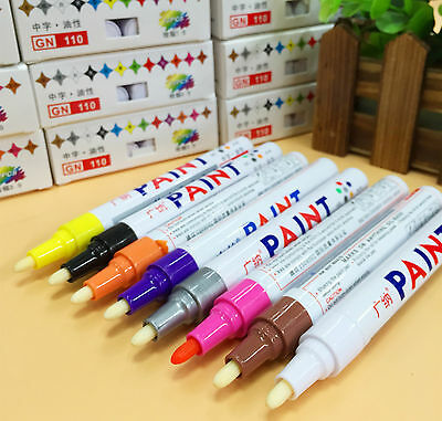 Permanent Oil-Based Paint Marker Pen for Rubber Glass Metal Tyres Bin Number