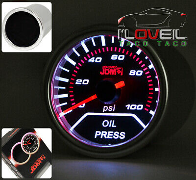 "2"" Oil Pressure Gauge Indicator Engine Smoke Lens For Hyundai Genesis Sonata G35"