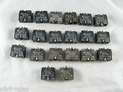 Lot Of 20 ~ Telemecanique ~  Contact Block ~  Part Number Zb2-Be102