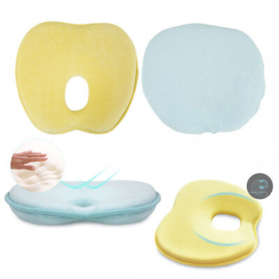 New Baby Infant Head Rest Support Pillow Memory Foam Prevent Flat Head Cushion