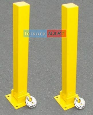 2 x Security parking posts fold down bolts inc, Parking Bollard Maypole MP9737