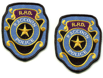 RESIDENT EVIL ZOMBIE OUTBREAK SURVIVOR RACCOON CITY POLICE RPD vel©®😎 PATCH X 2