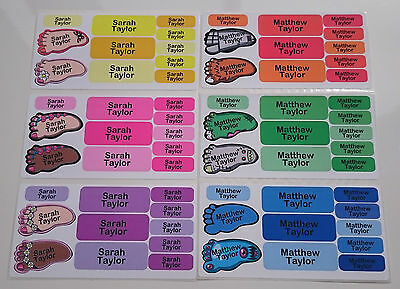 22 Waterproof shoe name labels school name tags dishwasher proof very durable