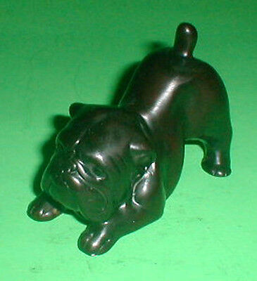 Boxer Bull Dog Playing Resin Statue 4 inch  handmade AKC