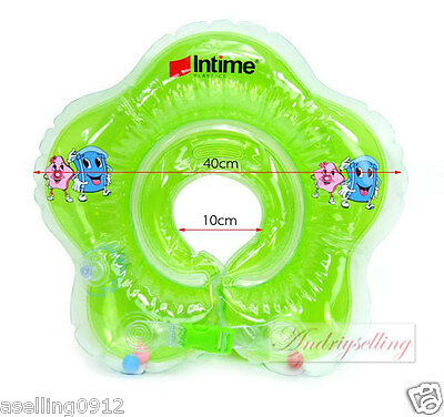 Baby Safety Bath Swim Ring Swimming Aid Float Neck Ring Green color only N26
