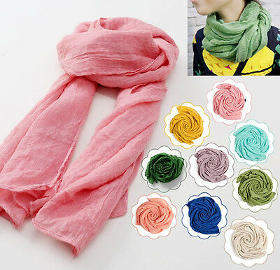 Girl Baby Scarf Soft Wrap Solid Warm Muffler Linen Kerchief For Toddler Children