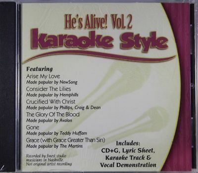 He's Alive Volume 2 Christian Karaoke Style NEW CD+G Daywind 6 Songs