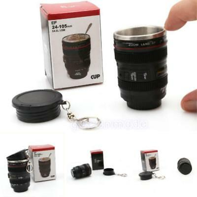 New Creative Keychain Mini Camera Lens Vodka Cup Espresso or Liquor Shot Glass W