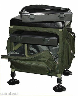 Stealth Angler Fishing Seat Tackle Box. Super Light Stalking Seat