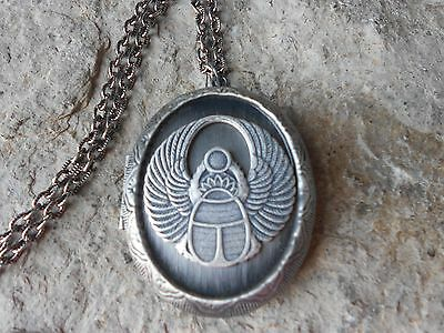 Stunning Egyptian Scarab (Beetle) Locket - Egypt - Unique Locket