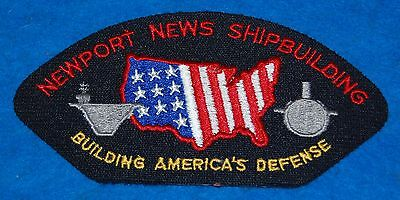 Newport News Shipbuilding Building Americas Defense Embroidered Patch