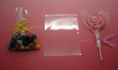 """3.6""""x 4.8""""(9x12cm) Clear Food Grade Cello Bag Open End For Candy Lollipop Cake"""