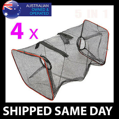 FOLDING BAIT CATCHER - YABBIE TRAP Prawn Fish Mullet Survival Gear Snare Net Pot