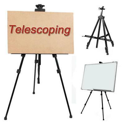 Adjustable Artist Tripod Aluminium Alloy Folding Painting Easel Boards Carry Bag
