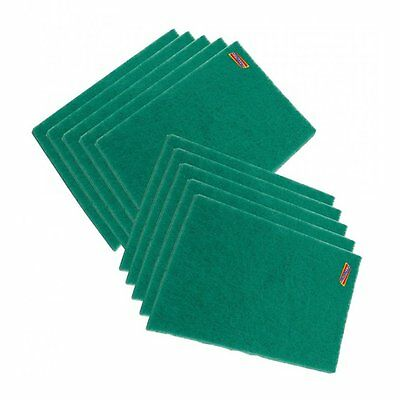 10 Scuff Pad Abrasive Surface Green Scotch Type Cleaning Preperation Finishing