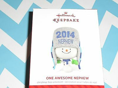 2014 Hallmark Ornament  One Awesome Nephew   NIB