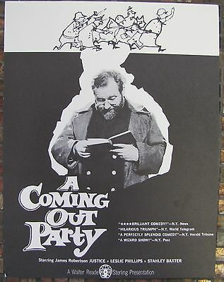 A COMING OUT PARTY British in German POW Camp WWII UK Comedy VINTAGE FILM FLYER