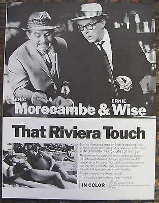 THAT RIVIERA TOUCH Eric Morecambe Ernie Wise BRITISH COMEDY Vintage Movie Flyer